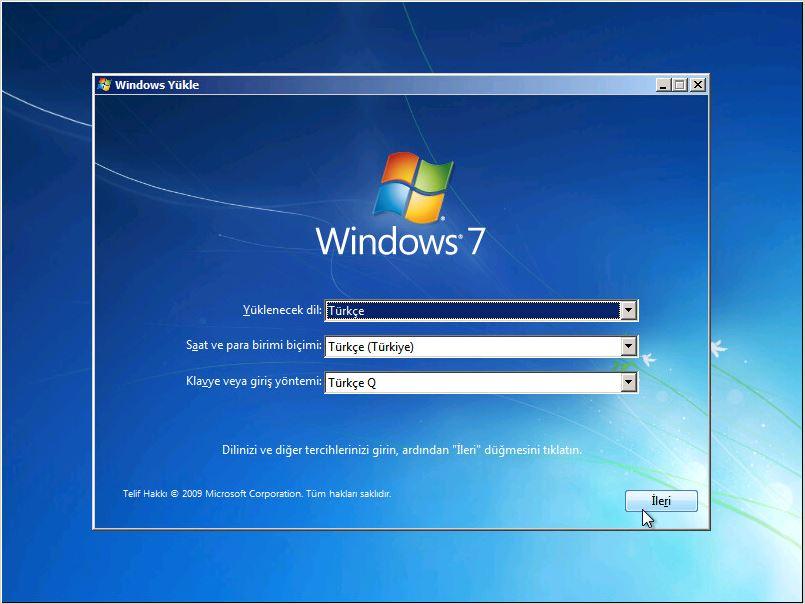 Windows 7 Format Nasıl Atılır?