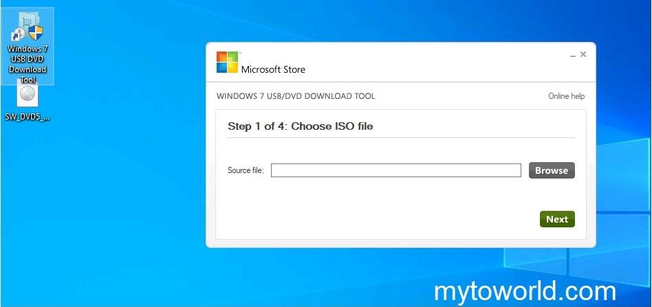 Windows 7 USB/DVD Download Tool Kullanımı