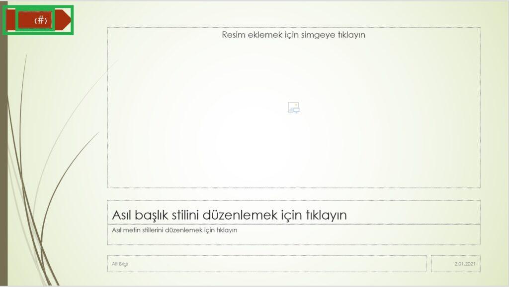PowerPoint Üst Bilgi Alt Bilgi Ekleme