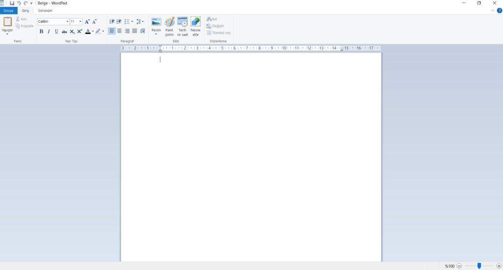 WordPad Nedir?